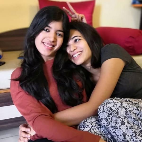 Anjali Barot with her sister Shruti