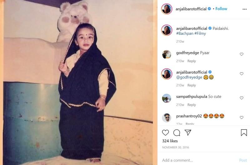 A childhood pic of Anjali Barot