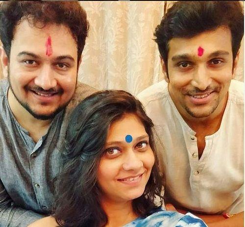 Pratik Gandhi with his Siblings