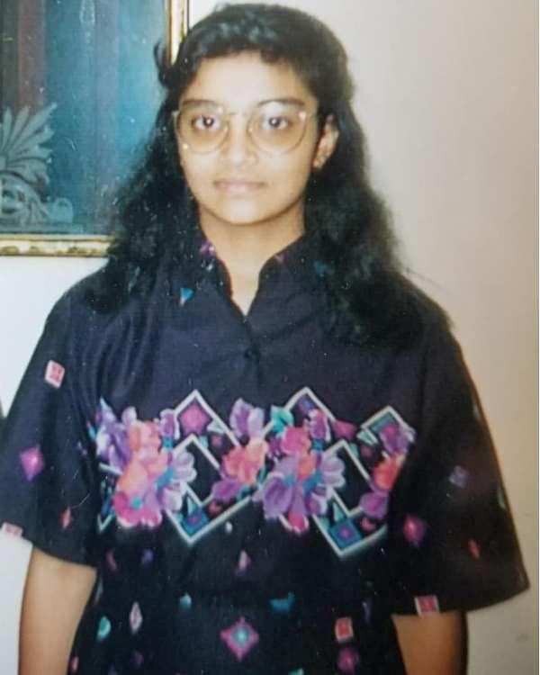 Sandhya Menon's chilhood picture