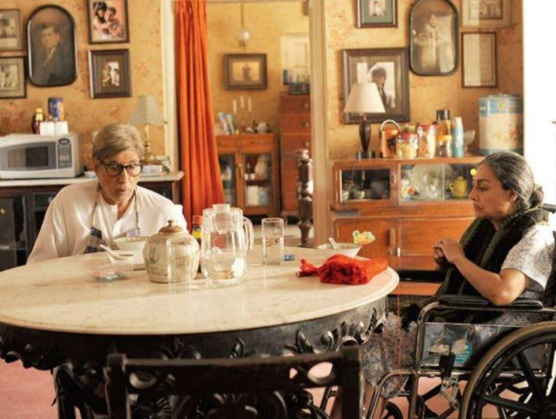 Padmavati Rao opposite Amitabh Bachchan in the movie TE3N