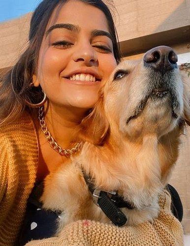 Kritika Khurana and her Pet Dog