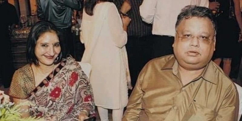 Rakesh Jhunjhunwala with his wife Rekha