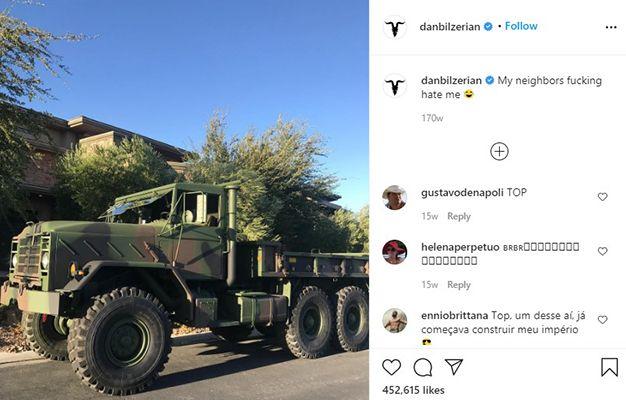 Dan Bilzerian Talking about his M35 Cargo Truck