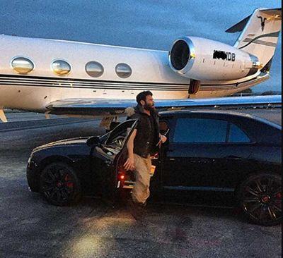 Dan Bilzerian with his Bentley Flying Spur