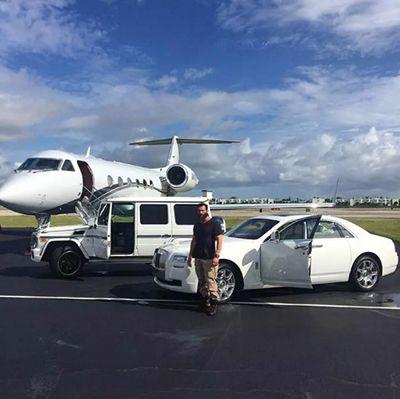 Dan Bilzerian with his Rolls Royce Ghost
