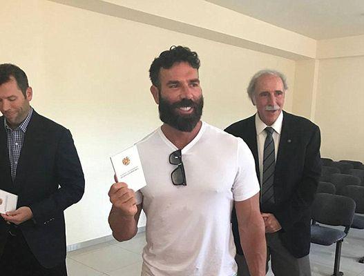 Paul Bilzerian Showing off his Armenian Passport