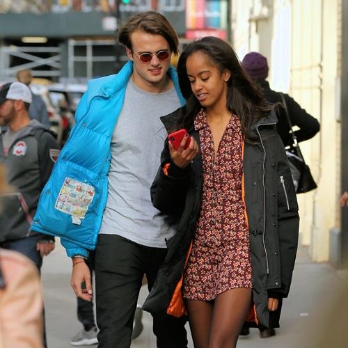 Rory Farquharson with his girlfriend, Malia Obama