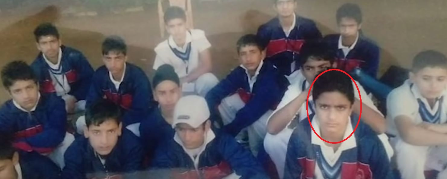 Abdul Samad with during his formative years as a child cricketer