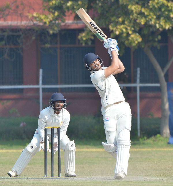 Abdul Samad slams one above the boundary rope during Jammu & Kashmir v Karnataka, Ranji Trophy 2019-20 quarter-final, Jammu, February 23, 2020