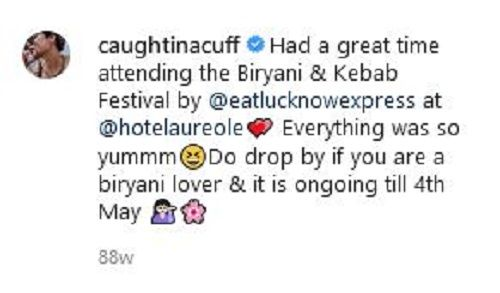 Riya Jain's Instagram post