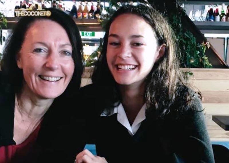Erana James with her mother