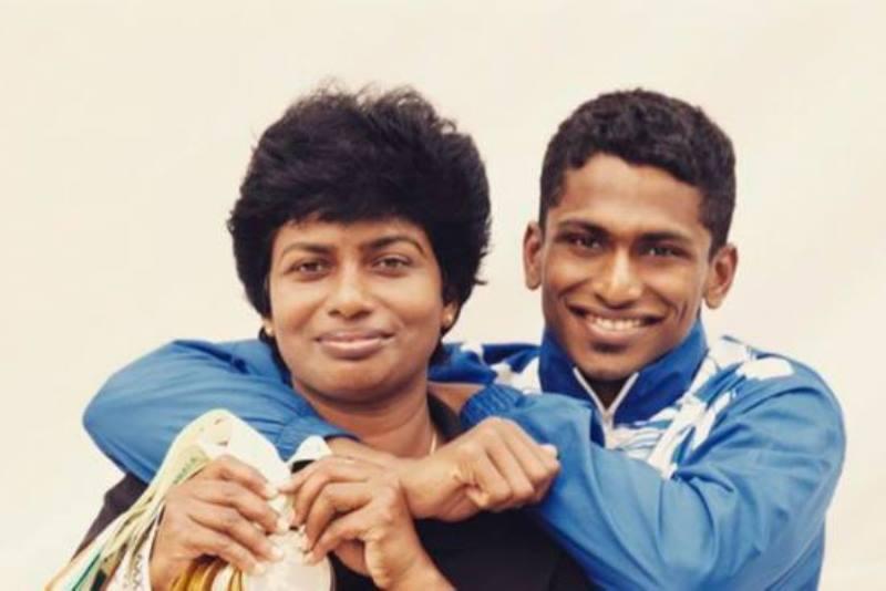 Sajan Prakash with his mother