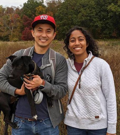 Sirisha Bandla and her boyfriend