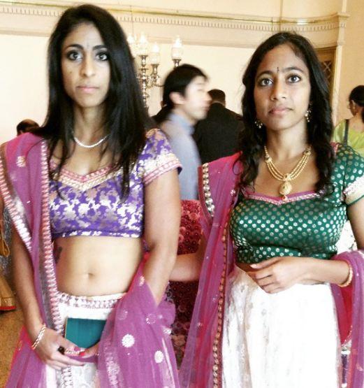 Sirisha Bandla and her sister