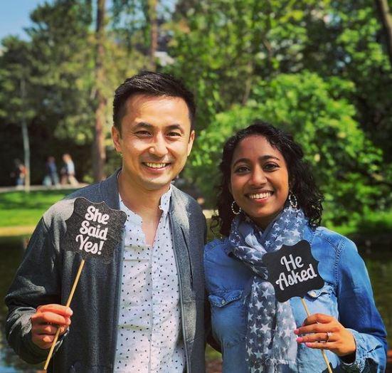 Sirisha Bandla with Sean Hu