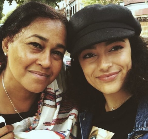 Amir Wilson's mother and his sister Imaan