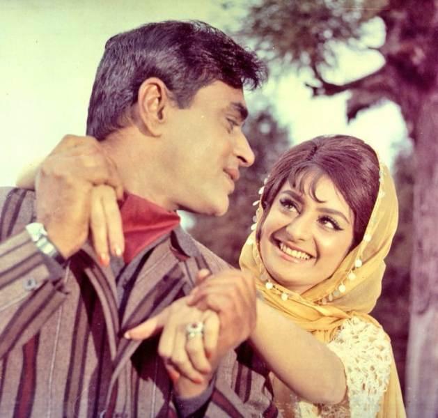 Saira Banu with Rajendra Kumar