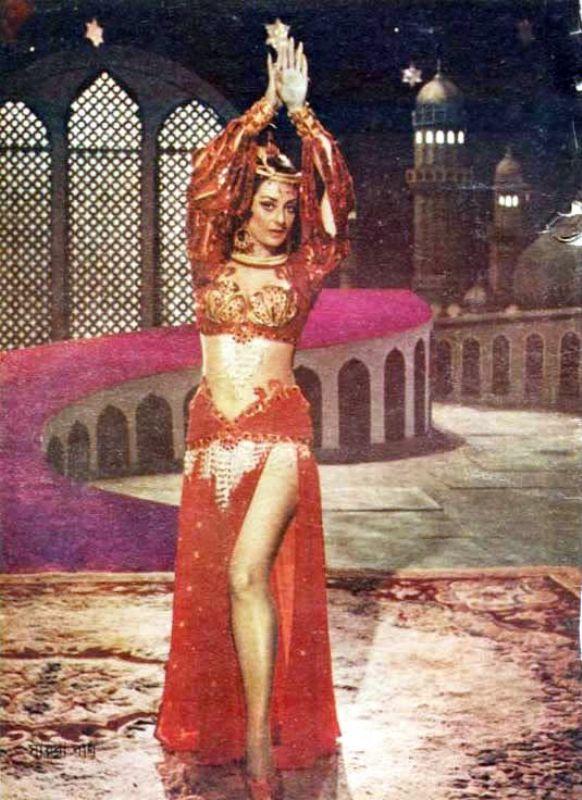 Saira Banu while dancing