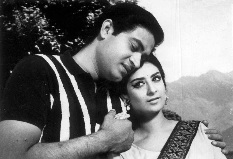 Saira Banu in the movie Shagird