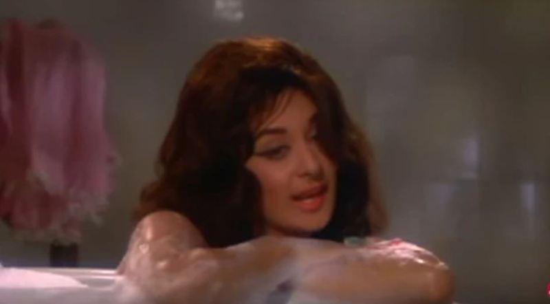 Saira Banu while shooting a bold scene in a bathtub