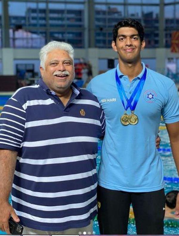 Srihari Nataraj with his coach