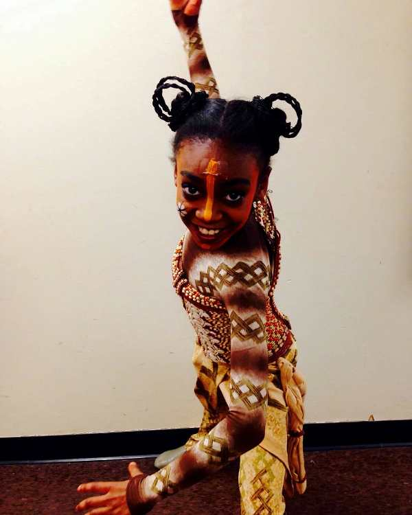 Shahadi Wright dressed a Young Nala for the Broadway show 'The Lion King' (2014)