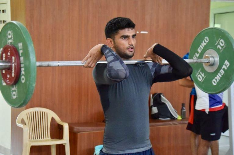 Manish Kaushik inside the gym