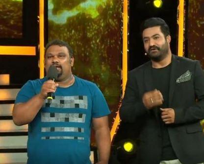 Mahesh Kathi on the set of Bigg Boss Telugu 1