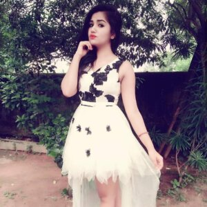Geethika Jeshwi in hot white dress