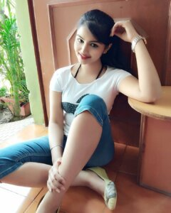 Geethika Jeshwi in causal dress