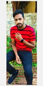 Goutham Avula in red Tshirt