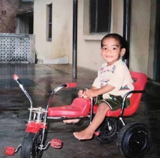 Ashish Kumar in childhood