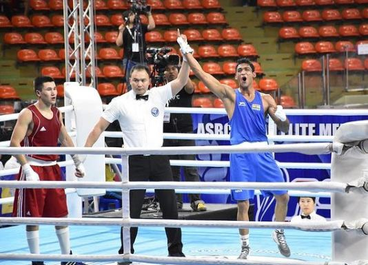 Ashish Kumar during the Asian Championship