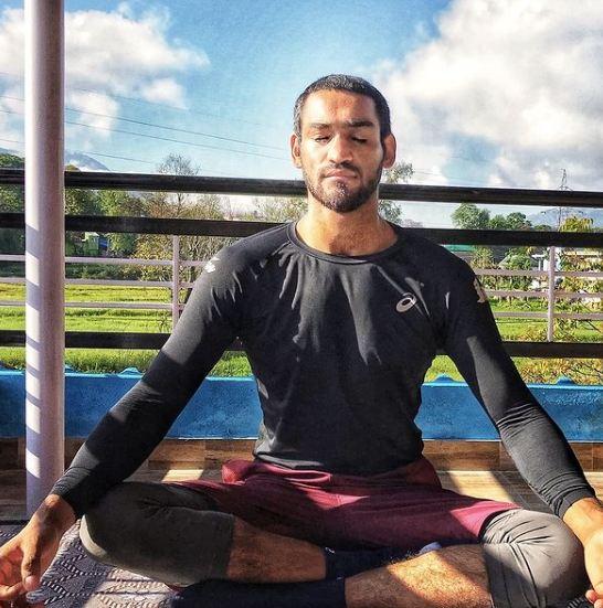Ashish Kumar doing meditation