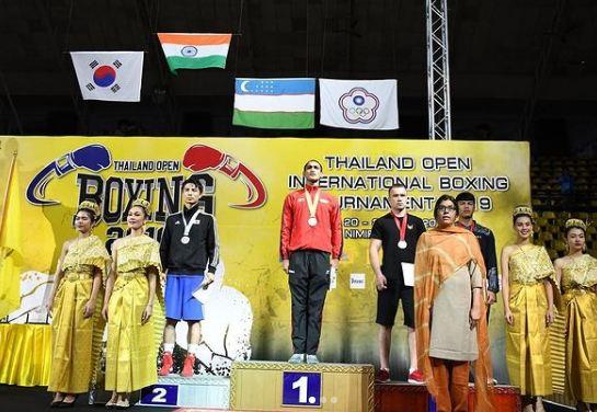 Ashish Kumar in Thailand open kings cup international boxing tournament