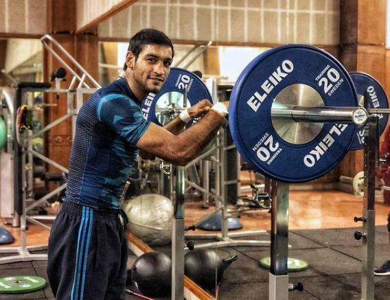 Ashish Kumar inside the gym
