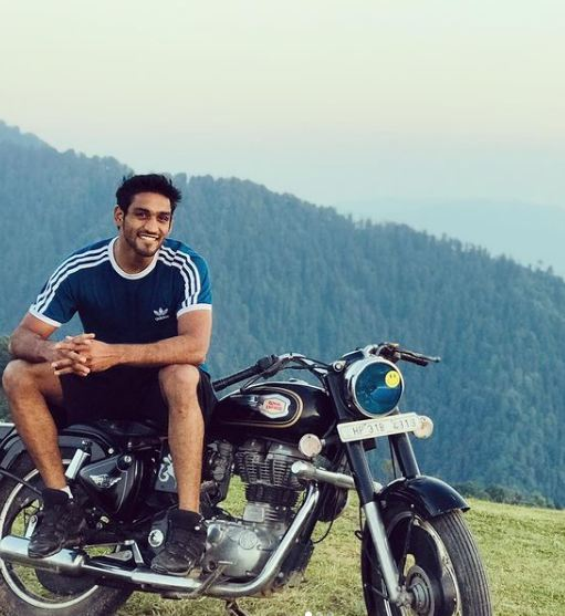 Ashish Kumar with his bike