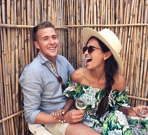 Diipa Khosla on a holiday with her husband