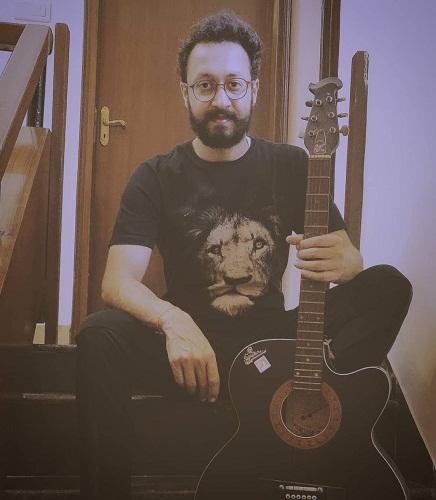 Abhishek Verma with his guitar