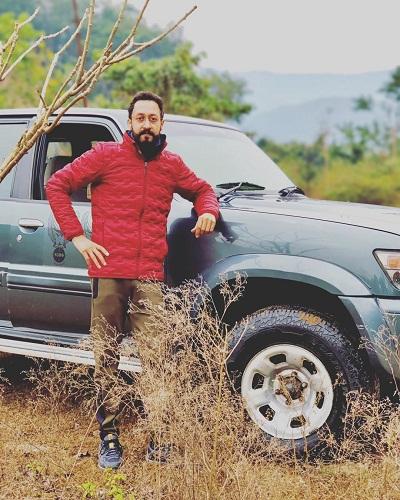 Abhishek Verma with his car