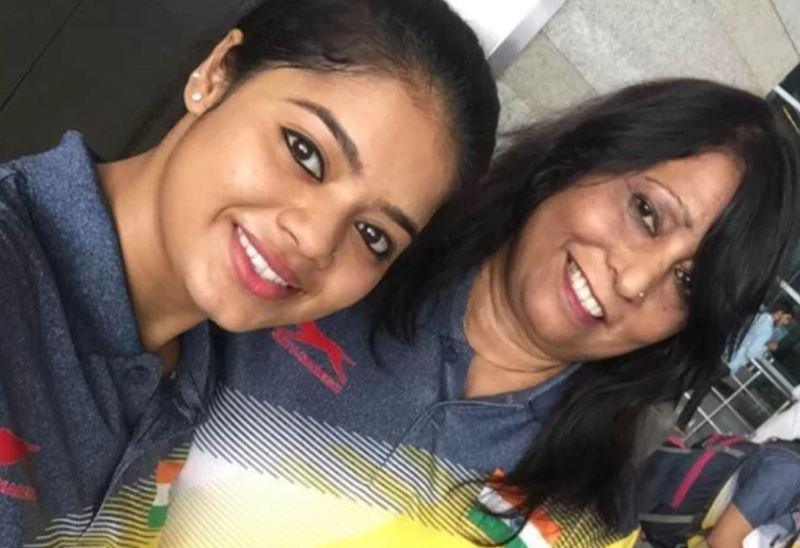 Pranati with her personal coach