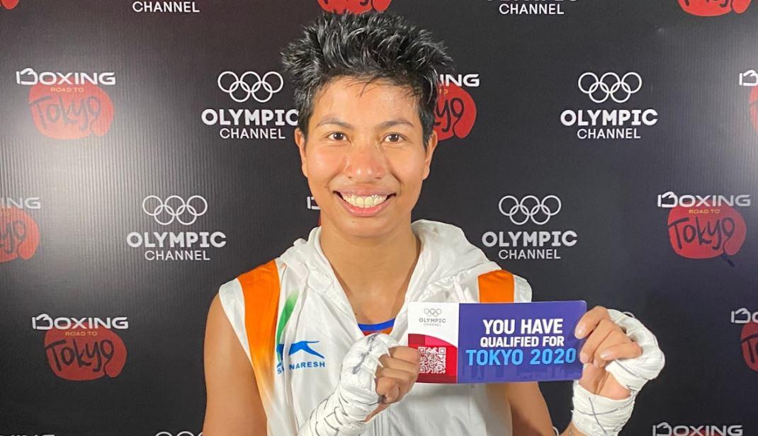 Lovlina Borgohain with her ticket to the Tokyo Olympics 2020