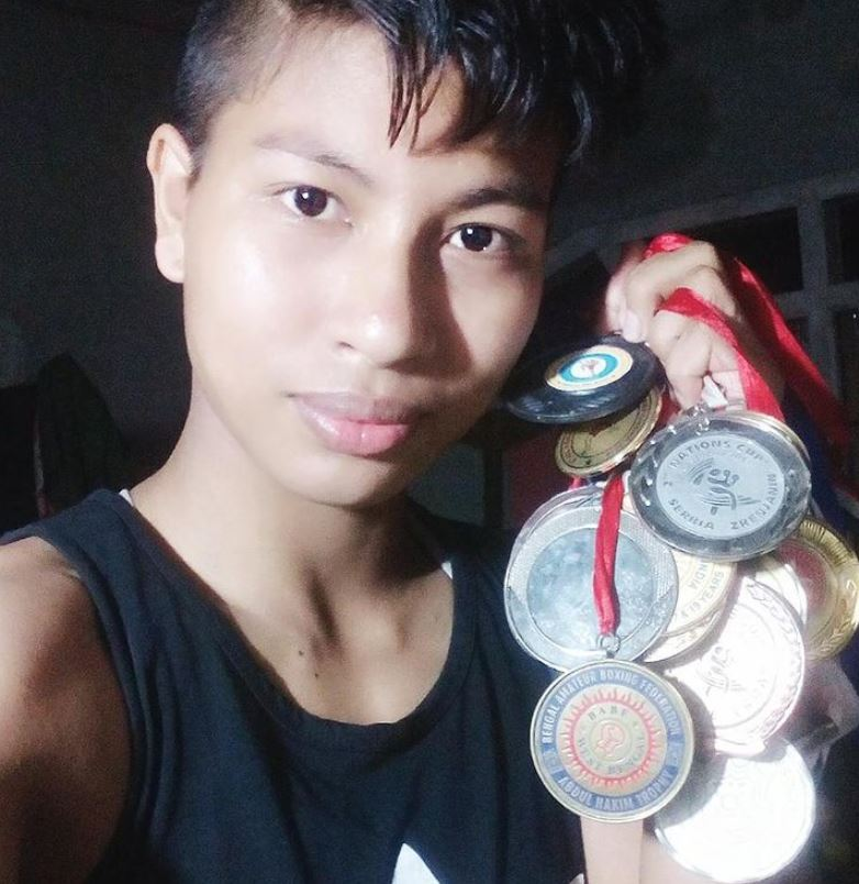 Lovlina Borgohain with her medals