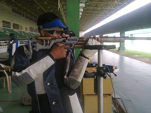 Deepak Kumar during his practice session