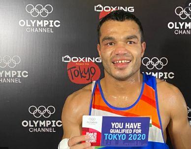 Vikas Krishan Yadav with the ticket to 2020 Tokyo Olympics