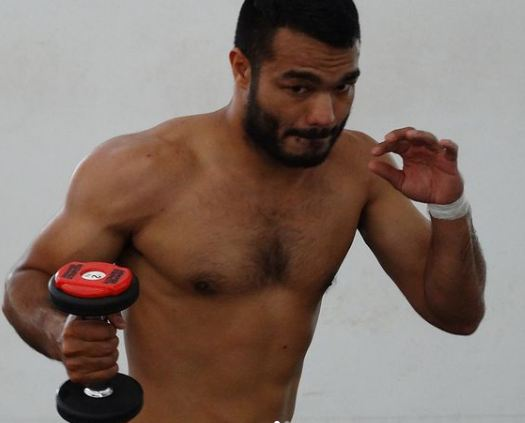 Vikas Krishan Yadav during his workout session