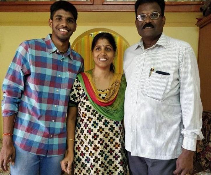 Satwiksairaj Rankireddy with his parents