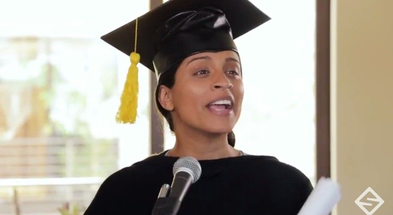 lilly singh graduation day photo