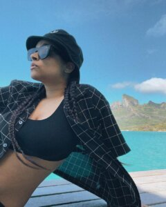 Lilly Singh hot at the beach